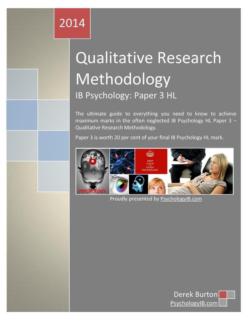 qualitative research papers psychology