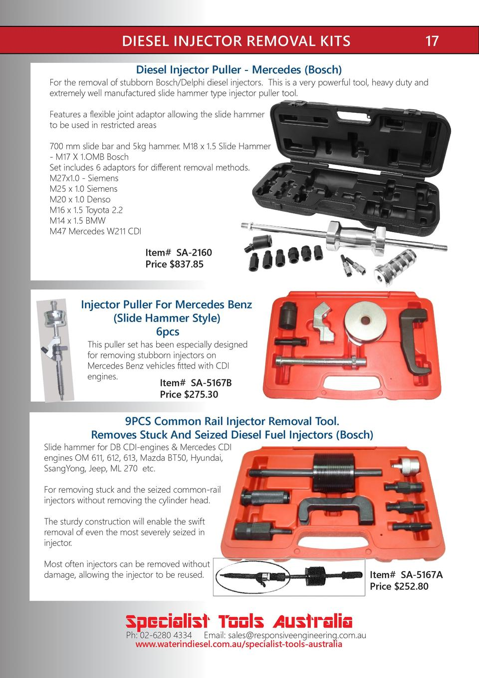 Govoni GO469 Multi-Stage Injector Puller Kit suits M9R Nissan//Renault//Opel
