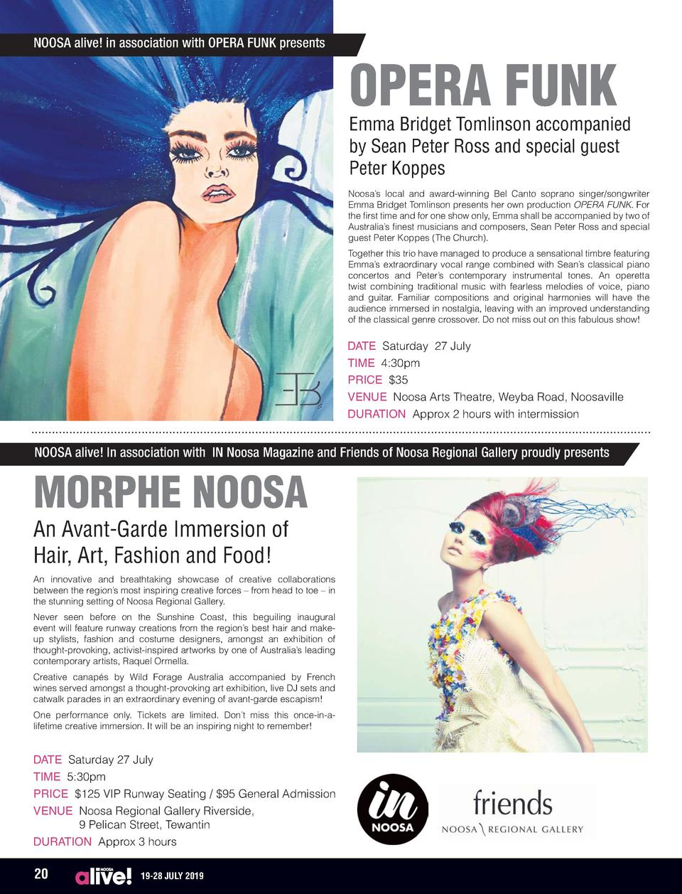 NOOSA alive  in association with OPERA FUNK presents  OPERA FUNK  Emma Bridget Tomlinson accompanied by Sean Peter Ross an...