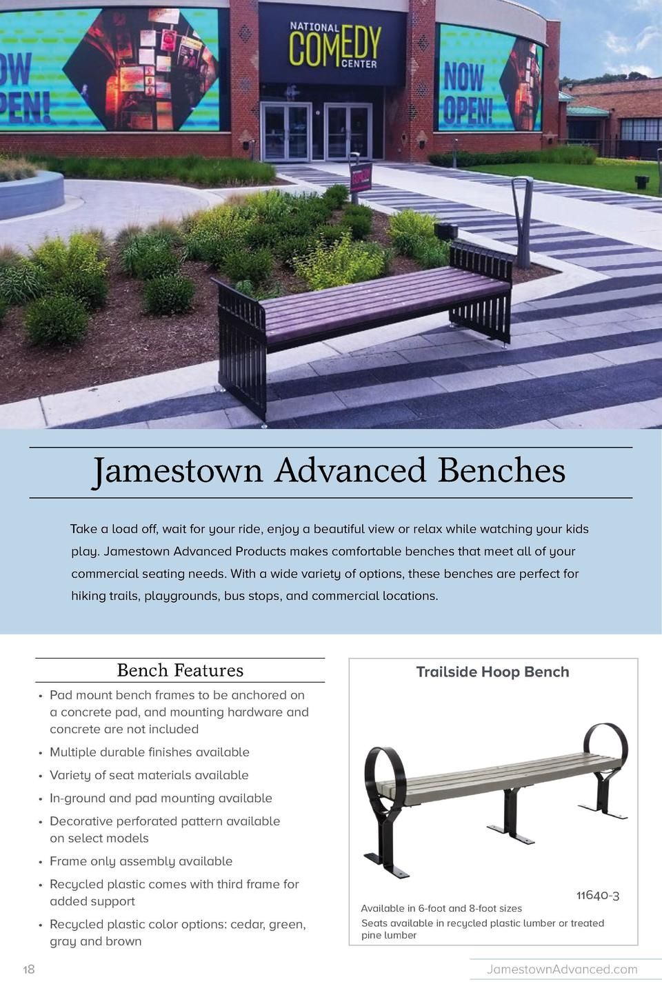 Trailside Bench  Expandable Backless Bench  11638-3 Available in 6-foot and 8-foot sizes 3-inch by 4-inch slats cut to len...