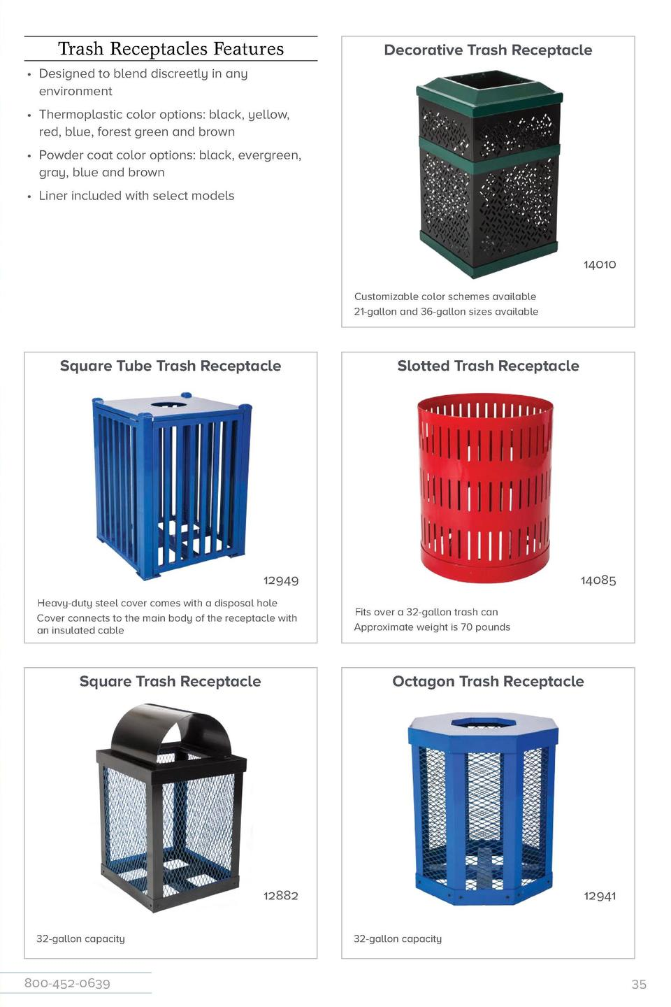 Jamestown Advanced Trash   Recycling Receptacles  Trash Receptacles Features  Decorative Trash Receptacle          Designe...