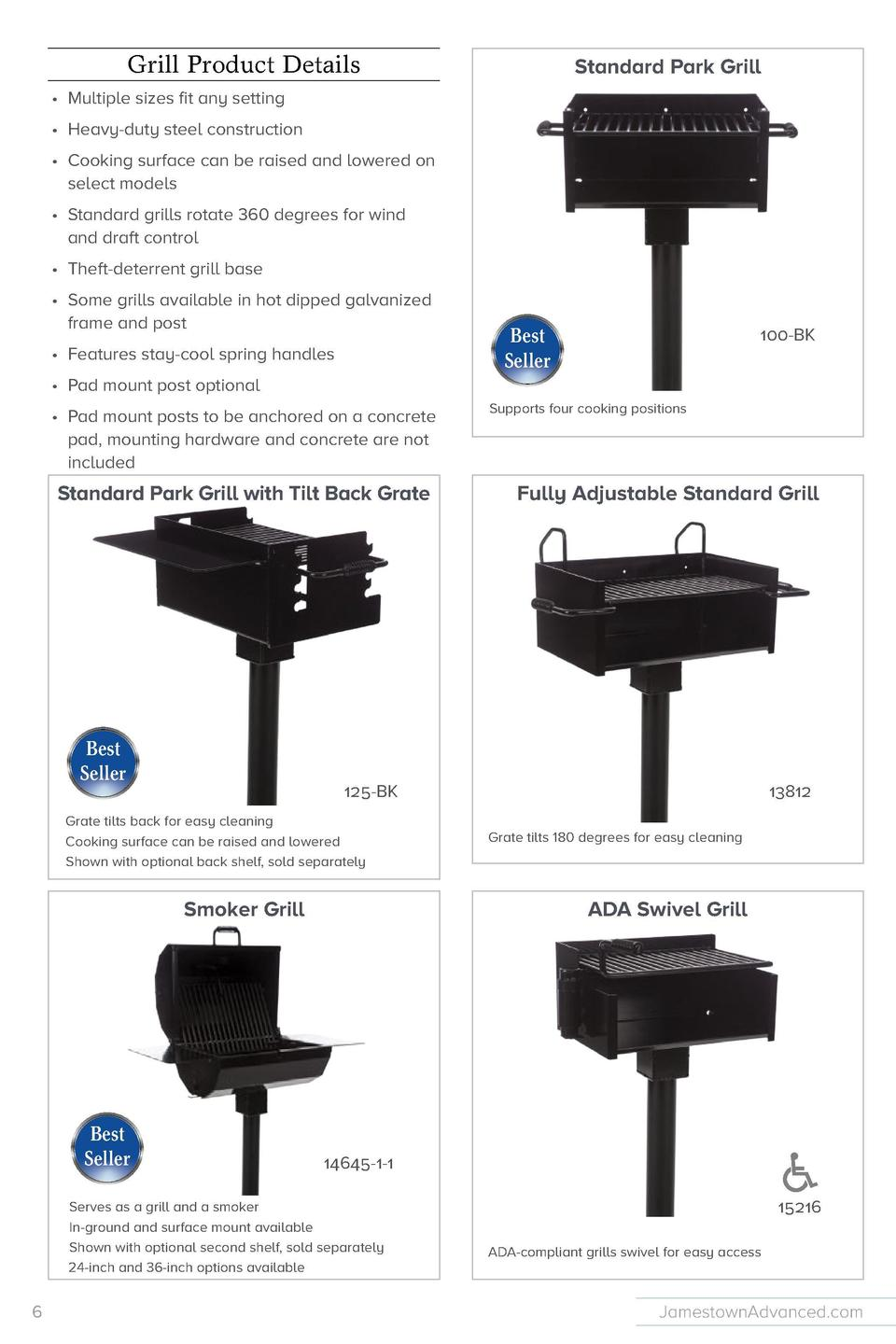 Grill Product Details  Standard Park Grill  Fully Adjustable Large Group Grill          Multiple sizes fit any setting    ...