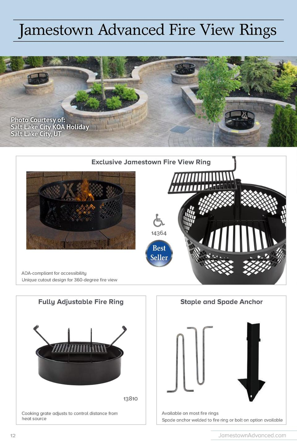 14354  Fire View Ring  Jamestown Advanced Fire View Rings  eter sizes available grate  14353  by 24 inches grate  Jamestow...
