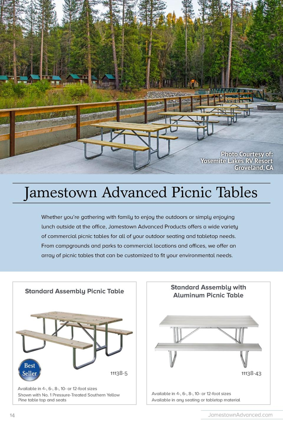 Available in 6-foot or 8-foot sizes  Standard Heavy Duty Productand Details with Recycled Plastic Picnic Table      Et est...