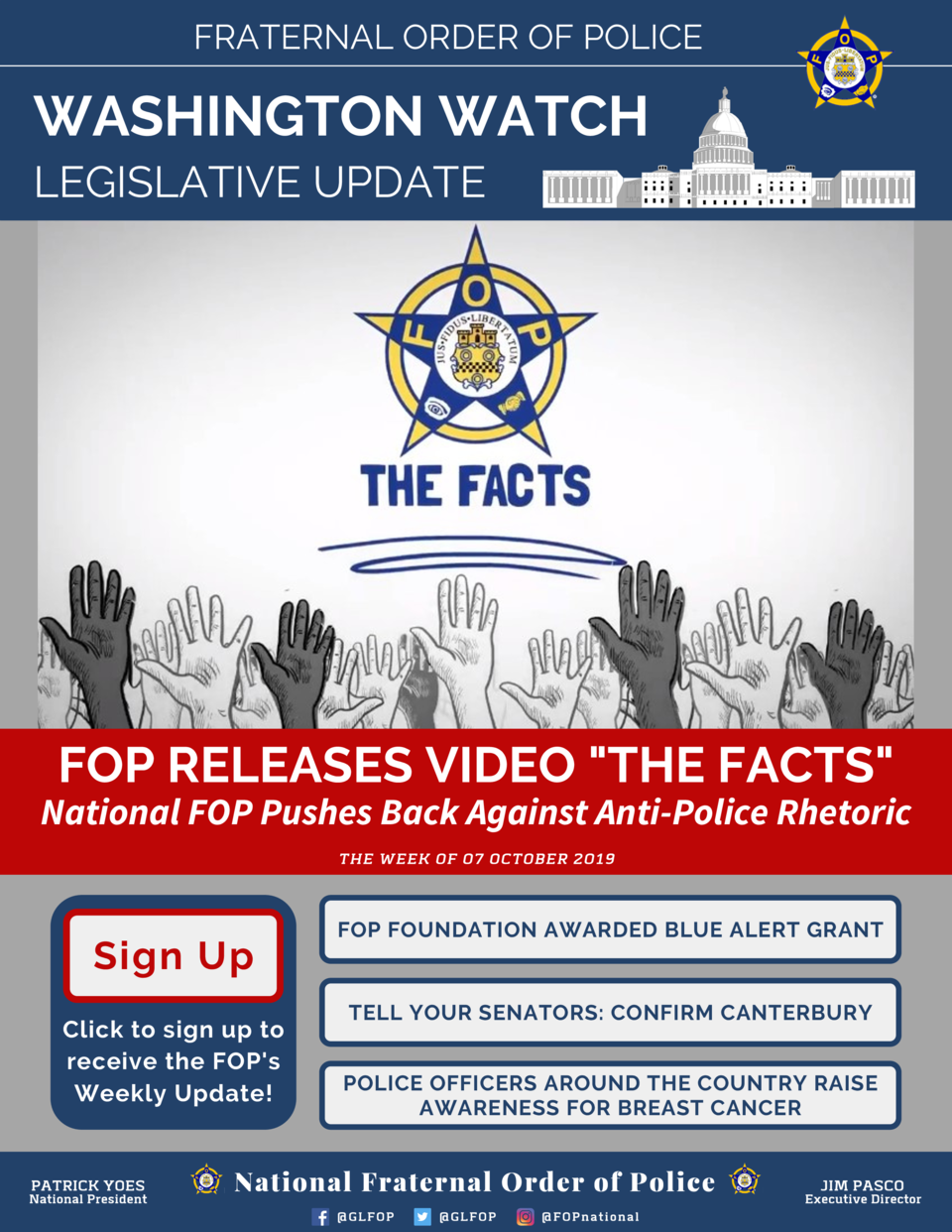 FRATERNAL ORDER OF POLICE  WASHINGTON WATCH LEGISLATIVE UPDATE  FOP RELEASES VIDEO  THE FACTS   National FOP Pushes Back A...