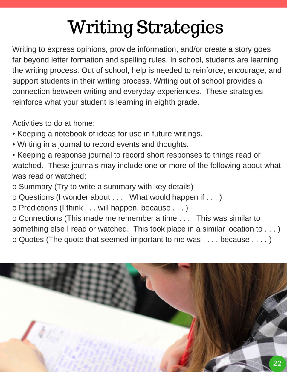 Writing Strategies Writing to express opinions, provide information, and or create a story goes far beyond letter formatio...