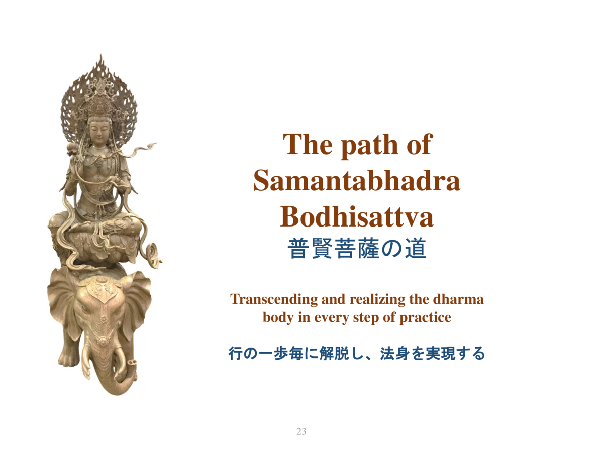 The path of Samantabhadra Bodhisattva                    Transcending and realizing the dharma body in every step of pract...