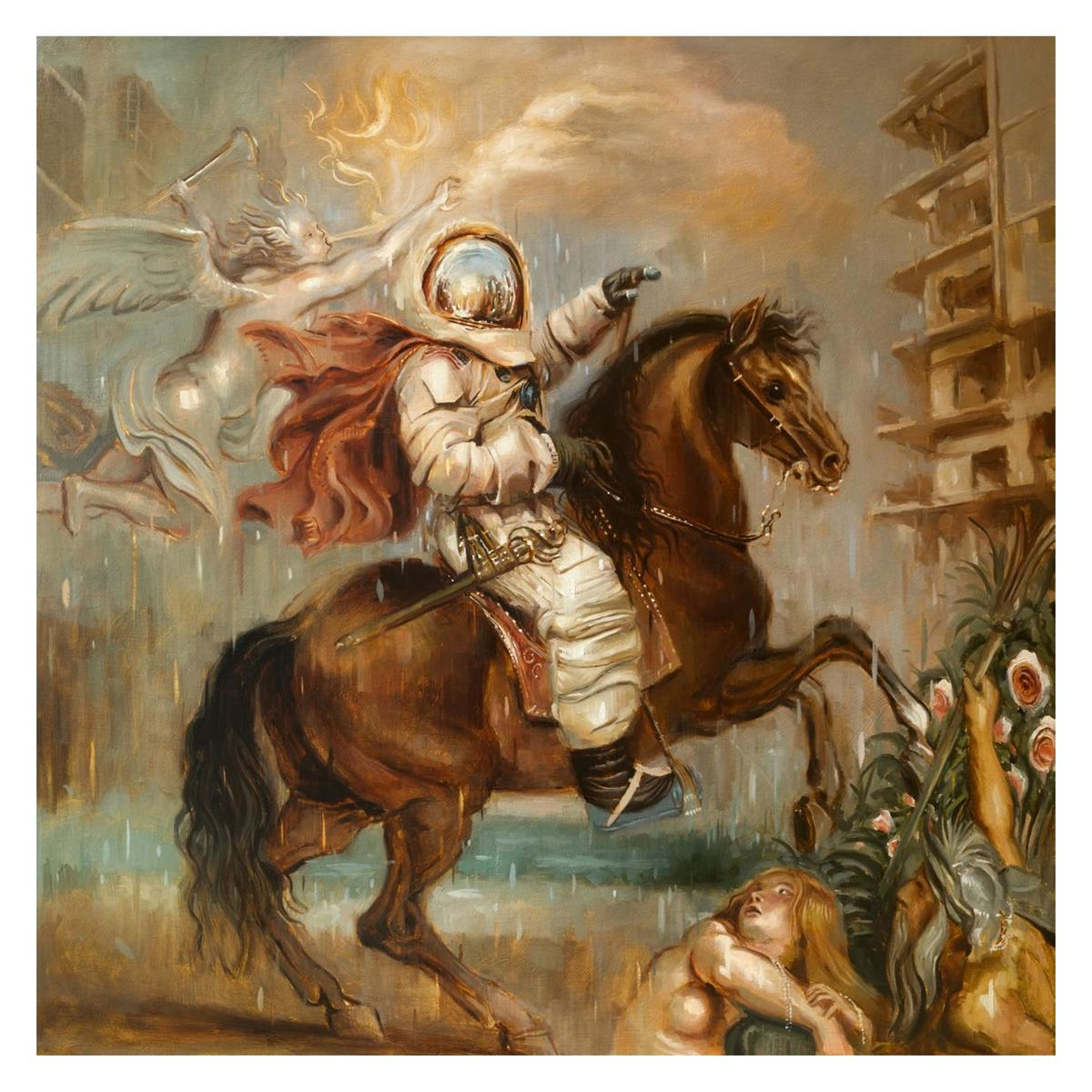 Allegory of Hubris 100x100cm, oil on canvas   3800  This work pays homage to Rubens    equestrian portrait of the Duke of ...