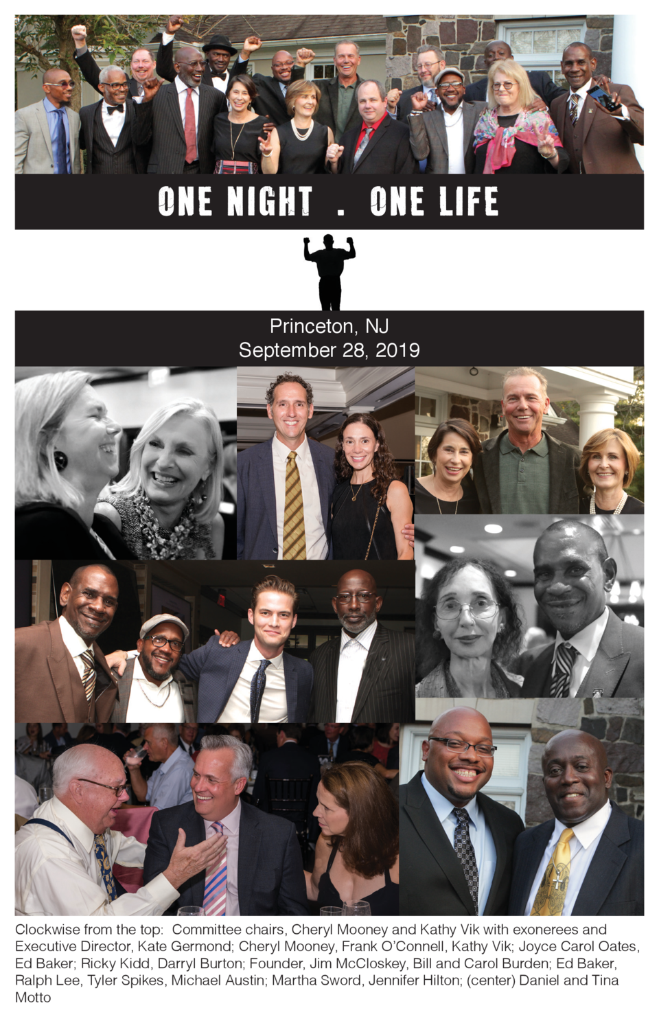 One Night . One life Princeton, NJ September 28, 2019  Clockwise from the top  Committee chairs, Cheryl Mooney and Kathy V...