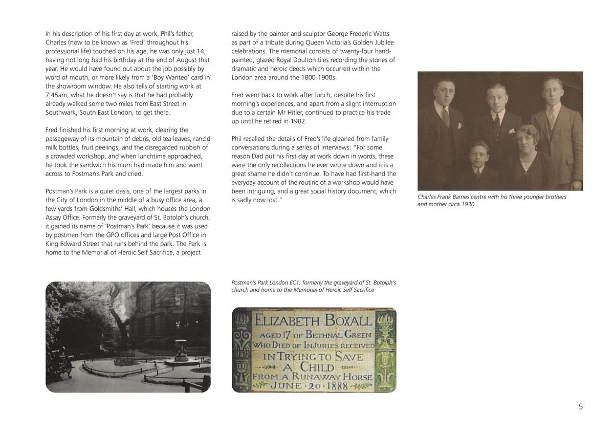 PB History Amd.qxp_Layout 1 12 06 2020 11 22 Page 7  In his description of his first day at work, Phil   s father, Charles...