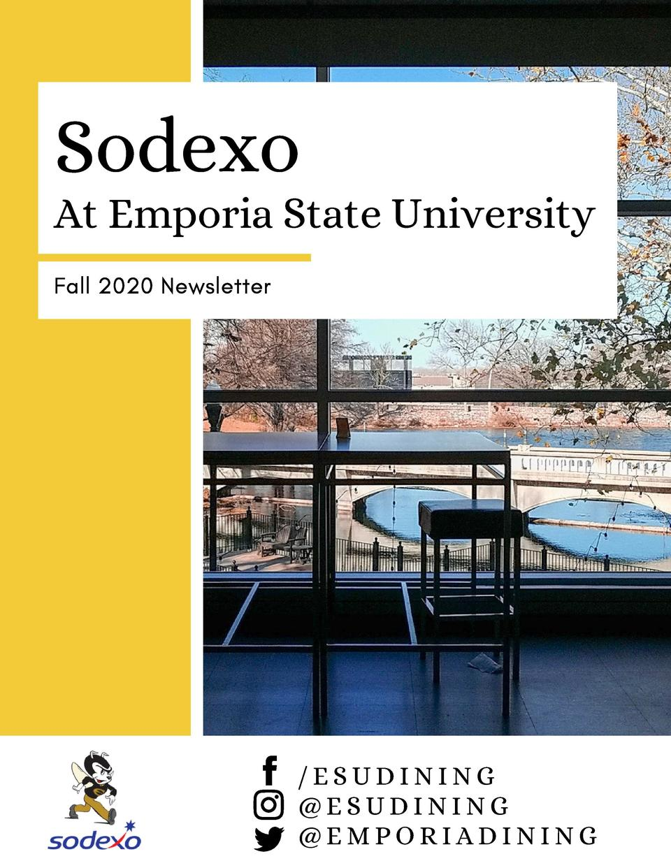 Sodexo  At Emporia State University Fall 2020 Newsletter   ESUDINING  ESUDINING  EMPORIADINING