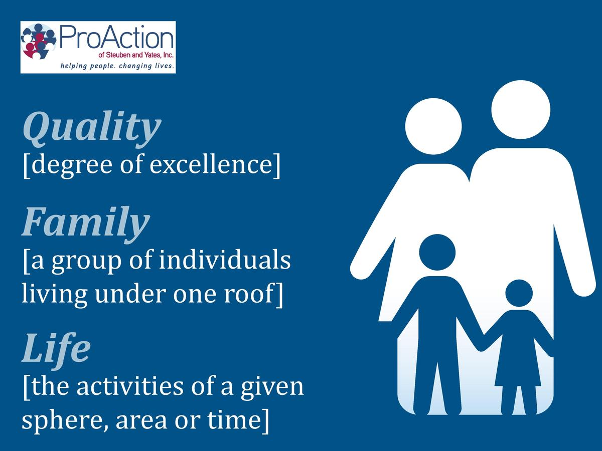 degree of excellence   Quality   a group of individuals living under one roof   Family   the activities of a given sphere...