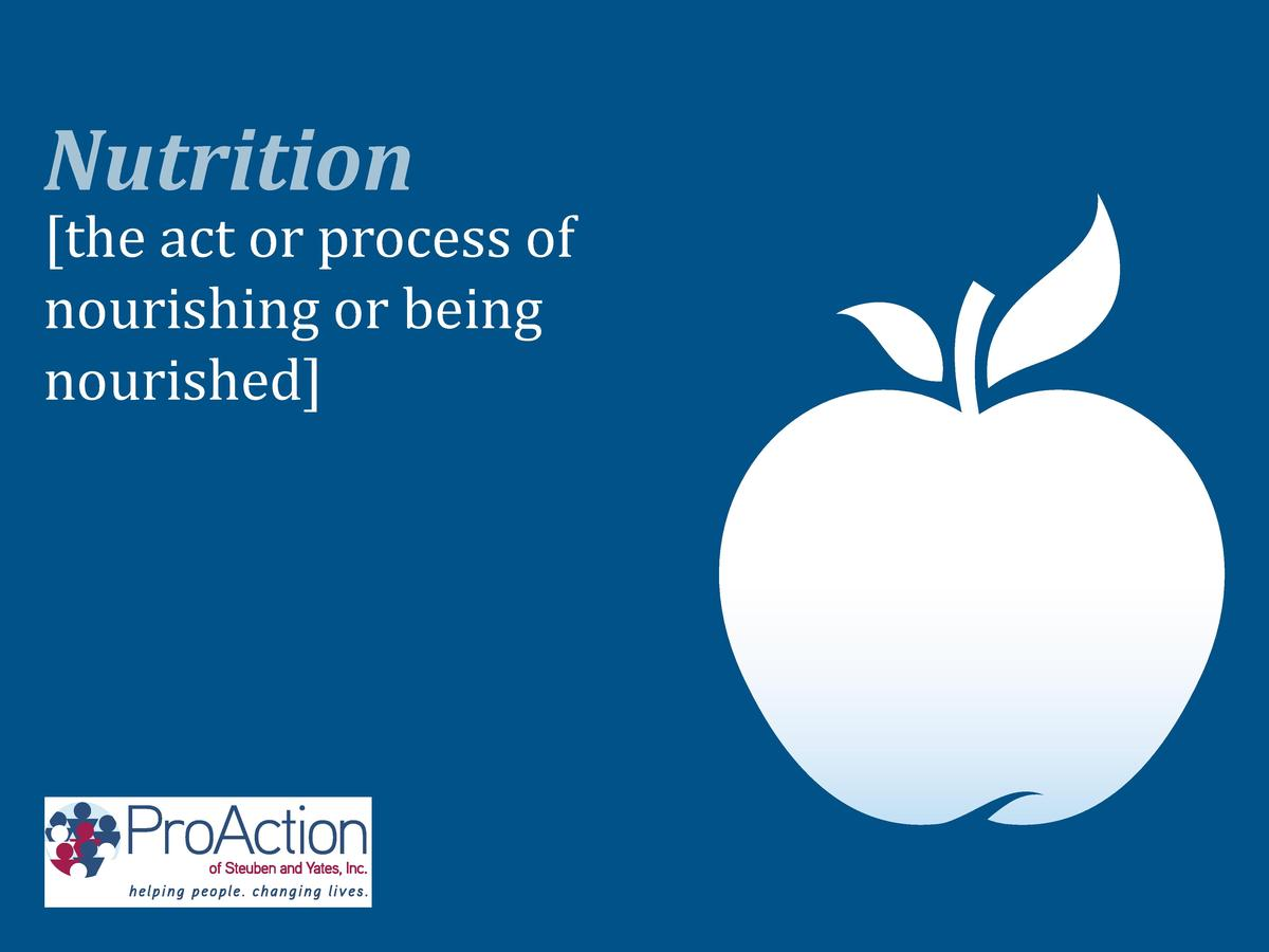 the act or process of nourishing or being nourished   Nutrition
