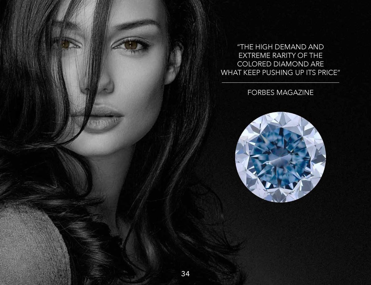 THE HIGH DEMAND AND EXTREME RARITY OF THE COLORED DIAMOND ARE WHAT KEEP PUSHING UP ITS PRICE    FORBES MAGAZINE  34