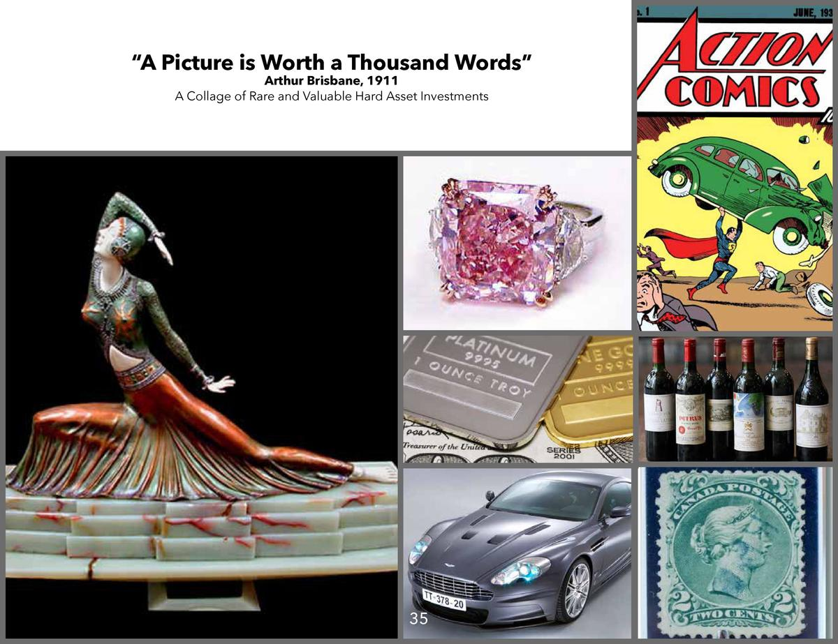 A Picture is Worth a Thousand Words    Arthur Brisbane, 1911 A Collage of Rare and Valuable Hard Asset Investments  35 ...