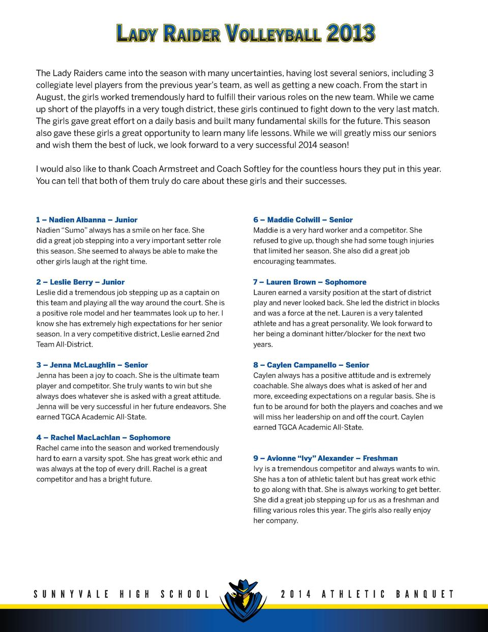 Sports Banquet Program : simplebooklet.com