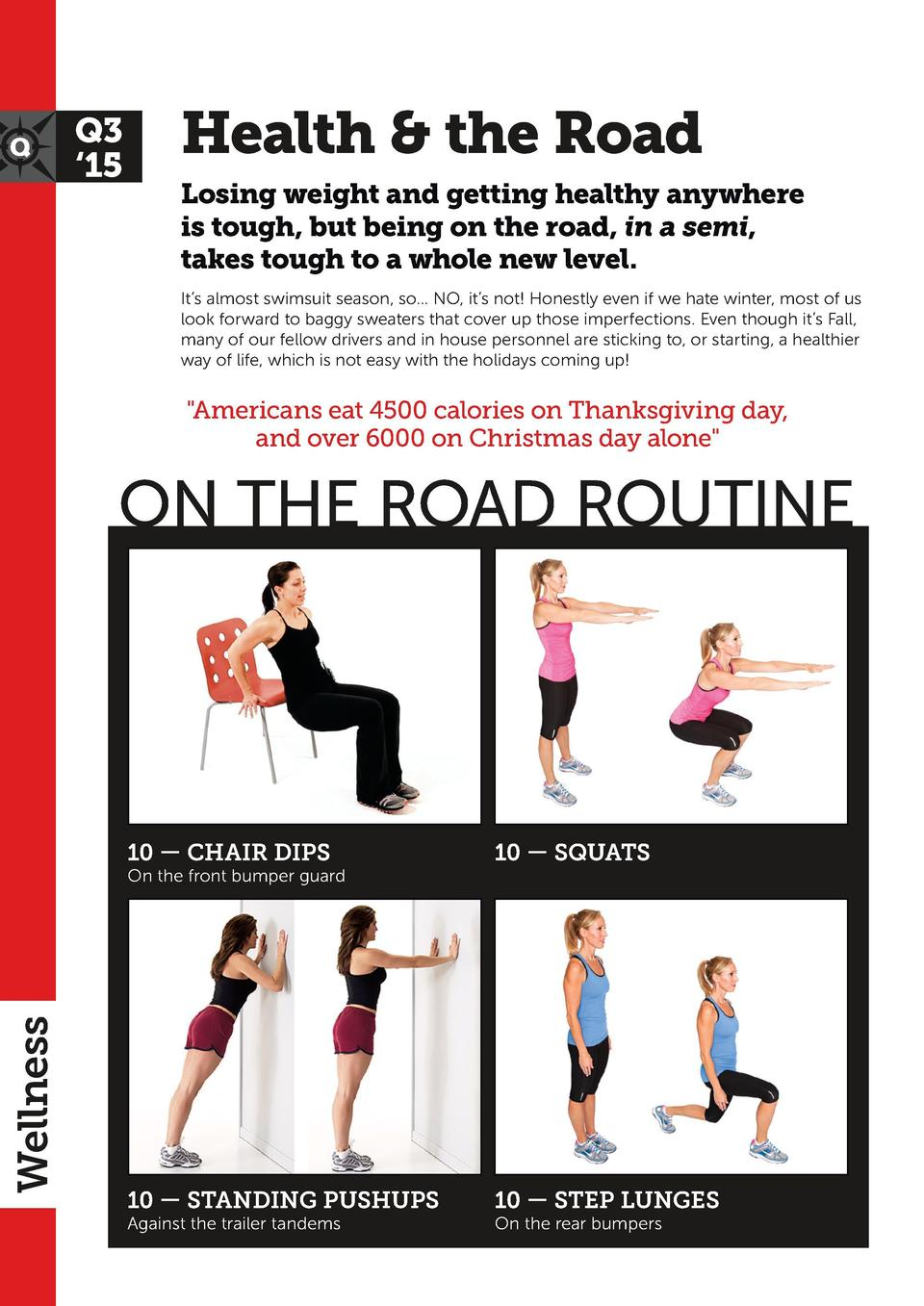 Q3    15  Health   the Road  FACT  1  You cannot out exercise a bad diet  Weight loss is 30  exercise and 70  the food you...