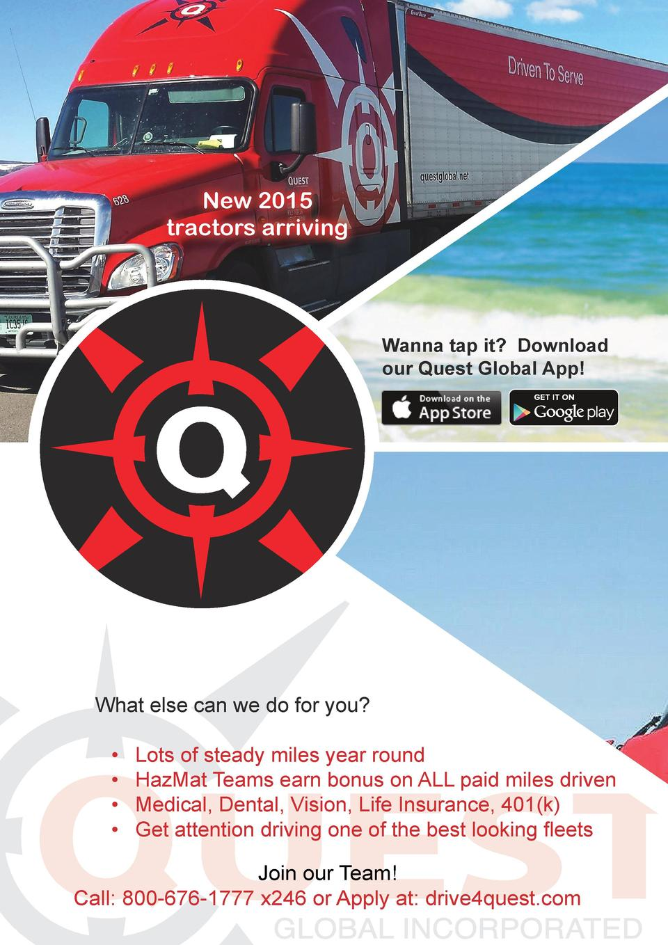 New 2015 tractors arriving  Wanna tap it  Download our Quest Global App   What else can we do for you                   Lo...
