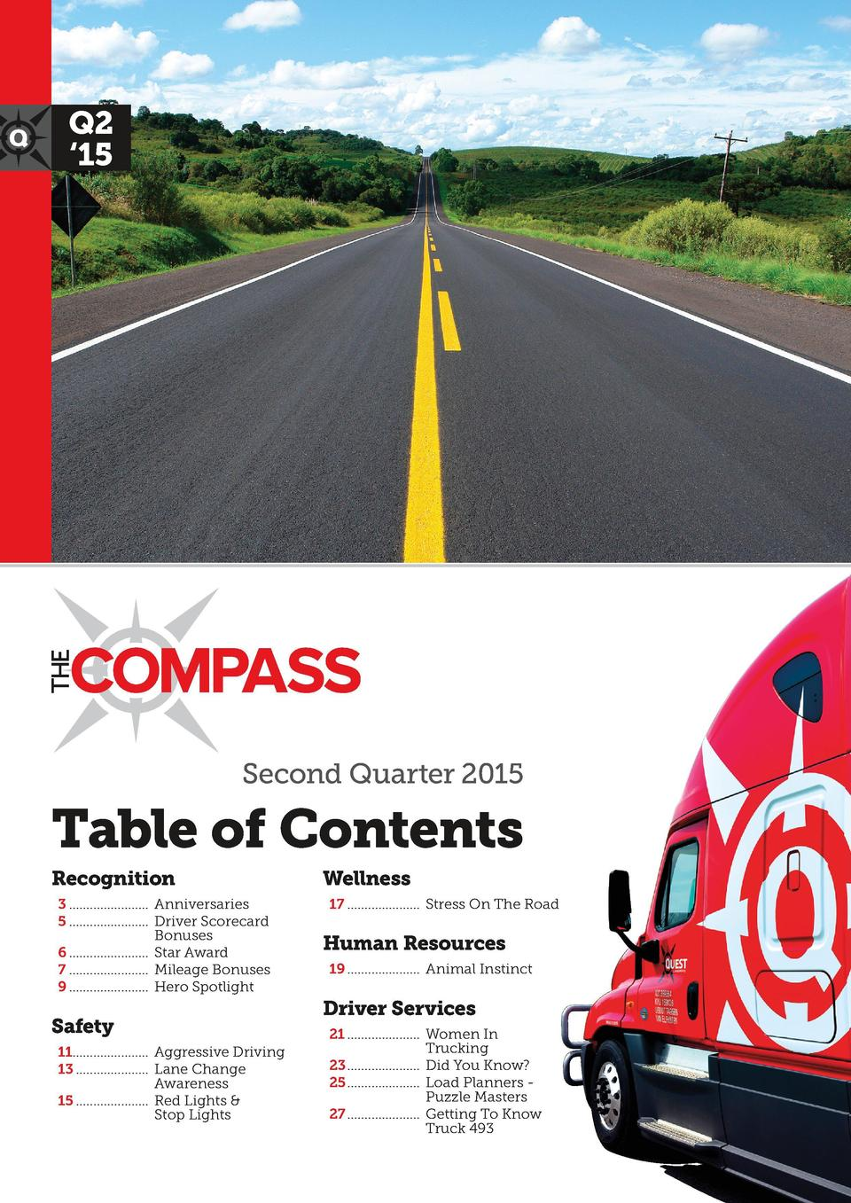 12  22  Q2    15  18  24  Second Quarter 2015  Table of Contents Recognition 3........................ Anniversaries 5.......