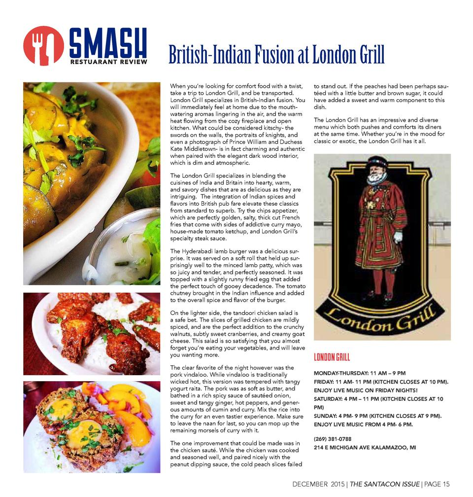 British-Indian Fusion at London Grill When you   re looking for comfort food with a twist, take a trip to London Grill, an...