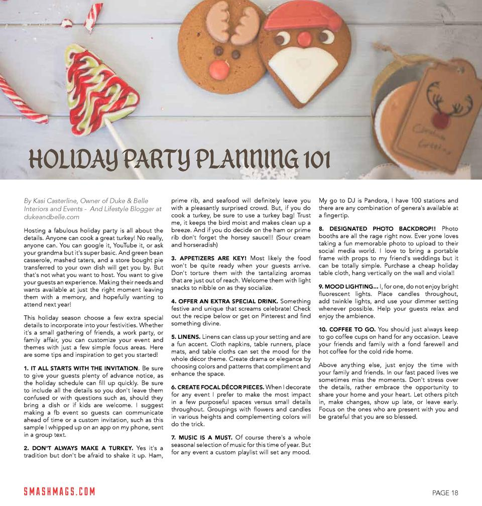 HOLIDAY PARTY PLANNING 101 By Kasi Casterline, Owner of Duke   Belle Interiors and Events -   And Lifestyle Blogger at d...
