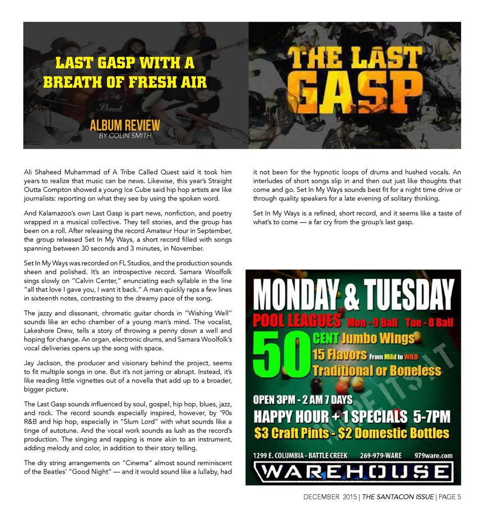 LAST GASP WITH A BREATH OF FRESH AIR ALBUM REVIEW BY COLIN SMITH Ali Shaheed Muhammad of A Tribe Called Quest said it took...