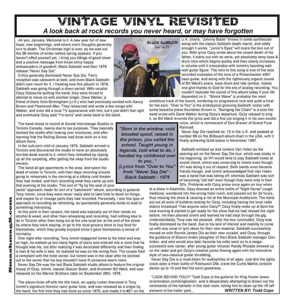 V i n ta ge V iny l Revis i t ed  A look back at rock records you never heard, or may have forgotten U.K. charts.  Johnny ...