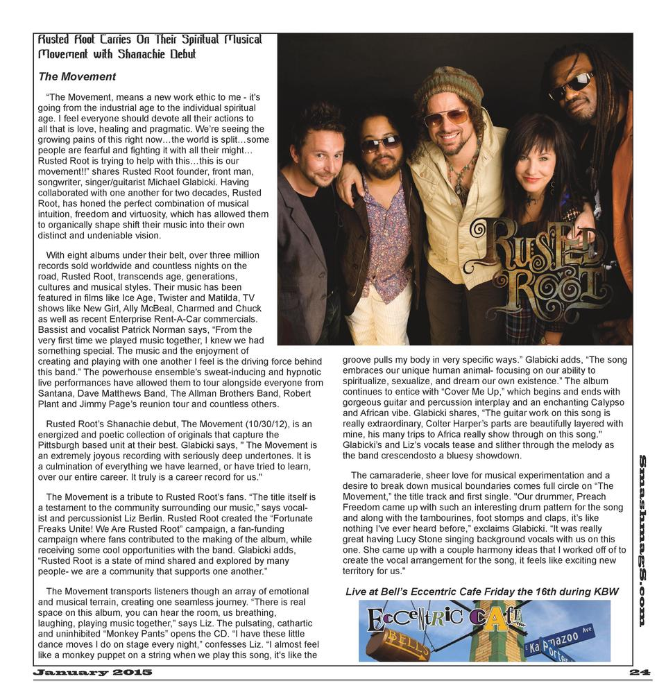 Rusted Root Carries On Their Spiritual Musical Movement with Shanachie Debut The Movement    The Movement, means a new wor...
