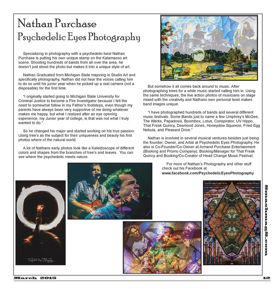 Nathan Purchase Psychedelic Eyes Photography Specializing in photography with a psychedelic twist Nathan Purchase is putti...