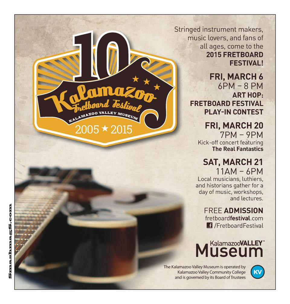Stringed instrument makers, music lovers, and fans of all ages, come to the 2015 FRETBOARD FESTIVAL   FRI, MARCH 6 6PM    ...