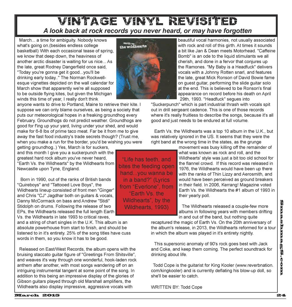 V i nta ge V iny l Rev i si t ed  A look back at rock records you never heard, or may have forgotten  March 2015  Smashmag...