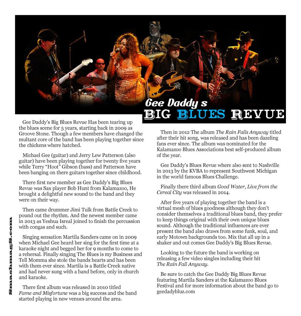 Gee Dadd y   s  Big  Gee Daddy   s Big Blues Revue Has been tearing up the blues scene for 5 years, starting back in 2009 ...