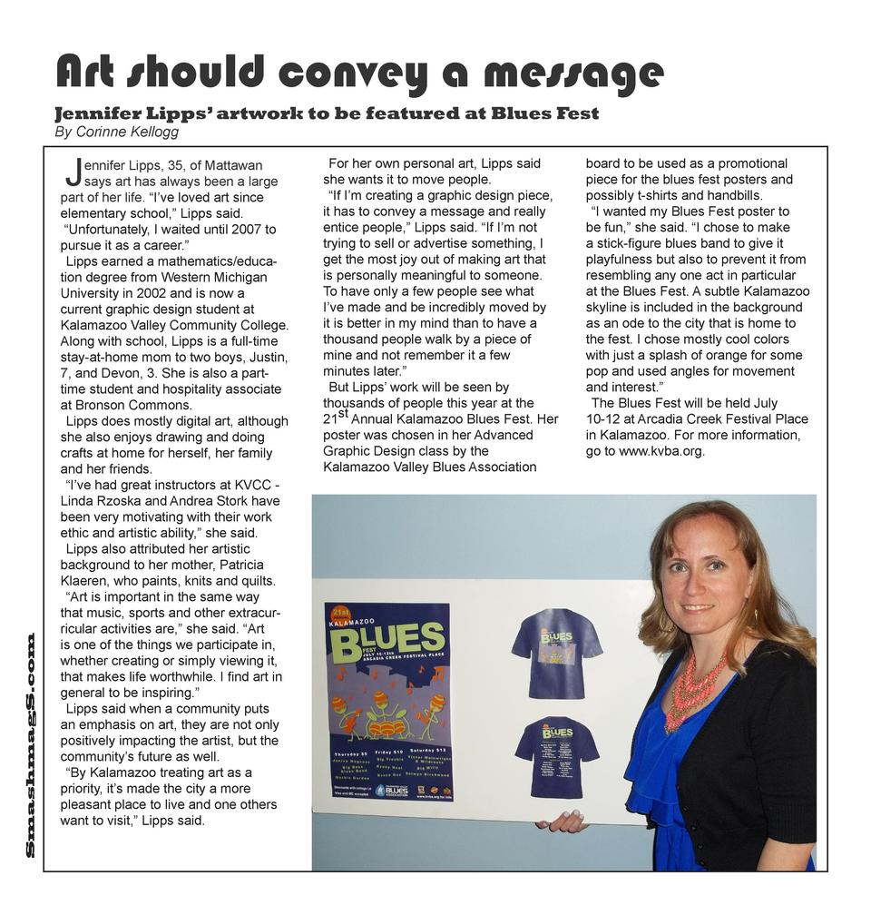 Art should convey a message Jennifer Lipps    artwork to be featured at Blues Fest By Corinne Kellogg  SmashmagS.com  J  e...