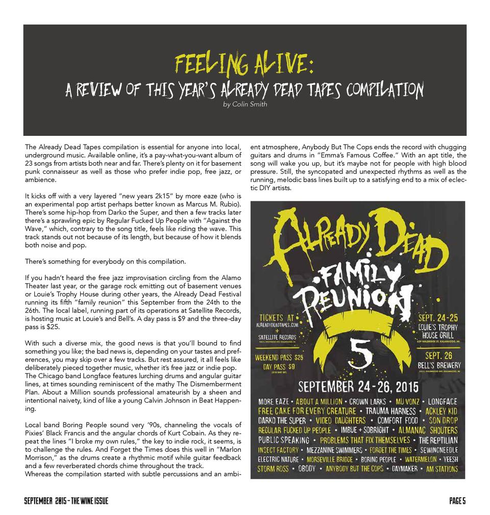Feeling Alive  A Review of This Year   s Already Dead Tapes Compilation by Colin Smith  The Already Dead Tapes compilation...