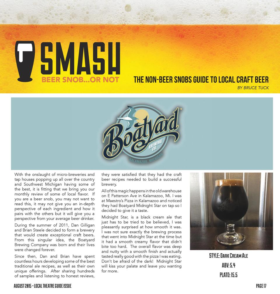 , m s  ,  THE NON-BEER SNOBS GUIDE TO LOCAL CRAFT BEER BY BRUCE TUCK  With the onslaught of micro-breweries and tap houses...