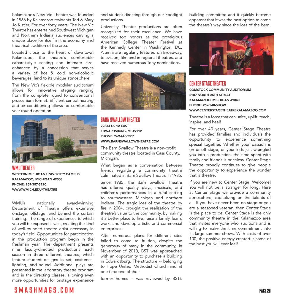 Kalamazoo   s New Vic Theatre was founded in 1966 by Kalamazoo residents Ted   Mary Jo Kistler. For over forty years, The ...