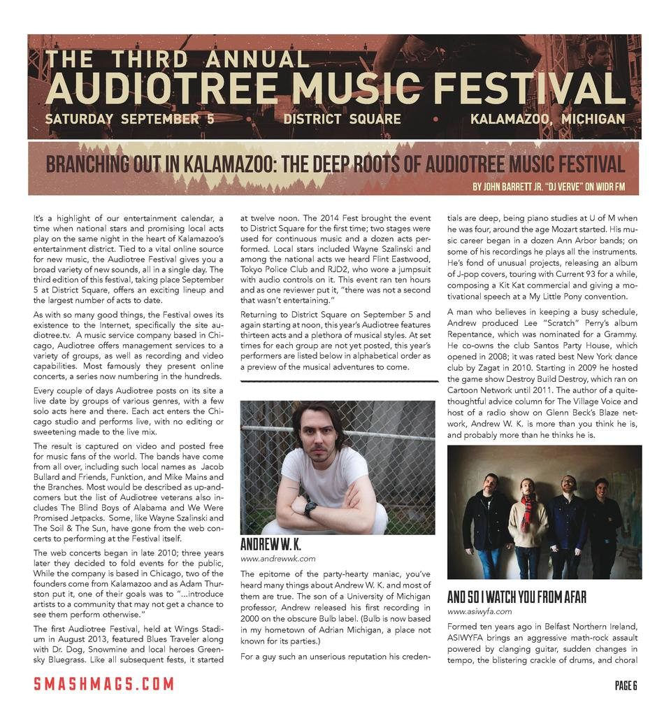 v g s t a a r T t o  BRANCHING OUT IN KALAMAZOO  THE DEEP ROOTS OF AUDIOTREE MUSIC FESTIVAL by John Barrett Jr.    DJ Verv...