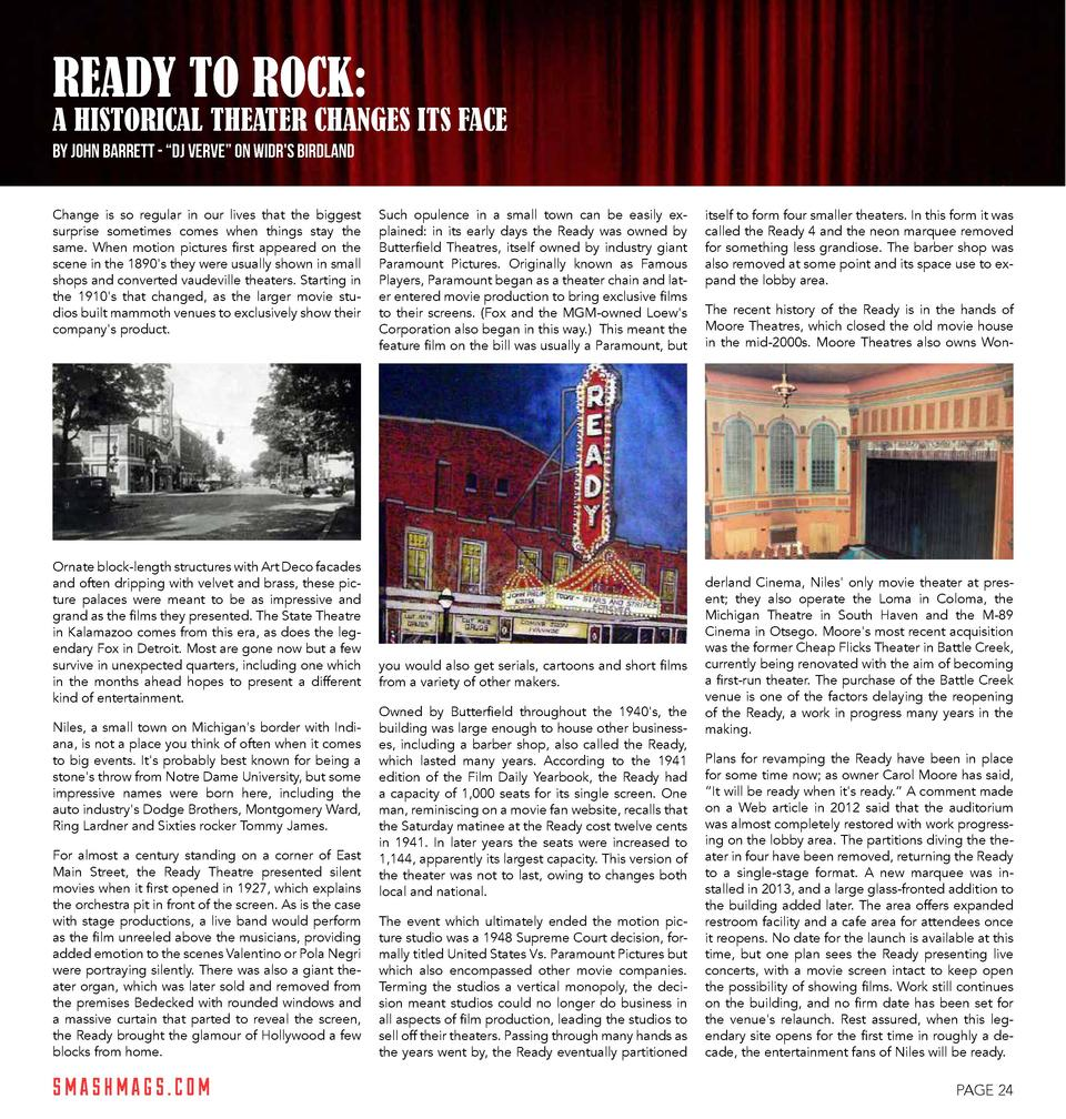 READY TO ROCK   A HISTORICAL THEATER CHANGES ITS FACE by John Barrett -    DJ Verve    on WIDR s Birdland Change is so reg...