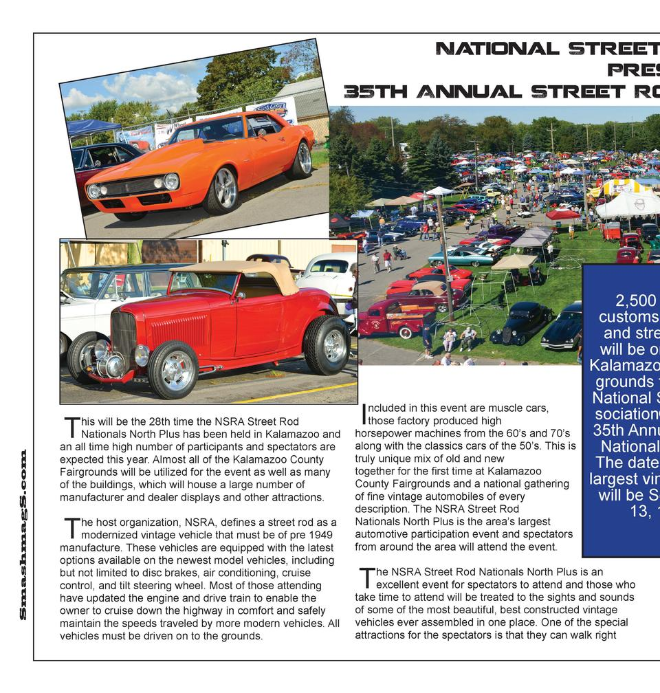 Na tional Street Ro Presen 35th Annual Street Rod  SmashmagS.com  T  his will be the 28th time the NSRA Street Rod Nationa...