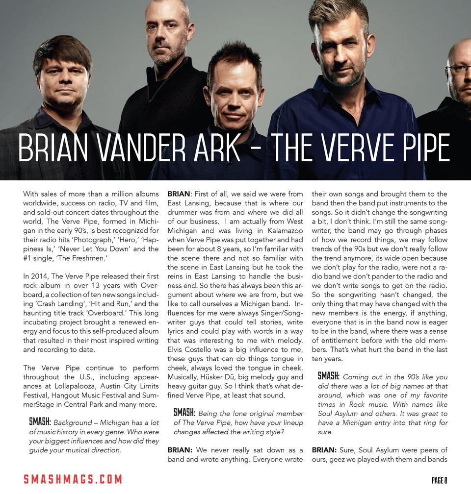 Brian Vander Ark - The Verve Pipe  With sales of more than a million albums worldwide, success on radio, TV and film, and ...