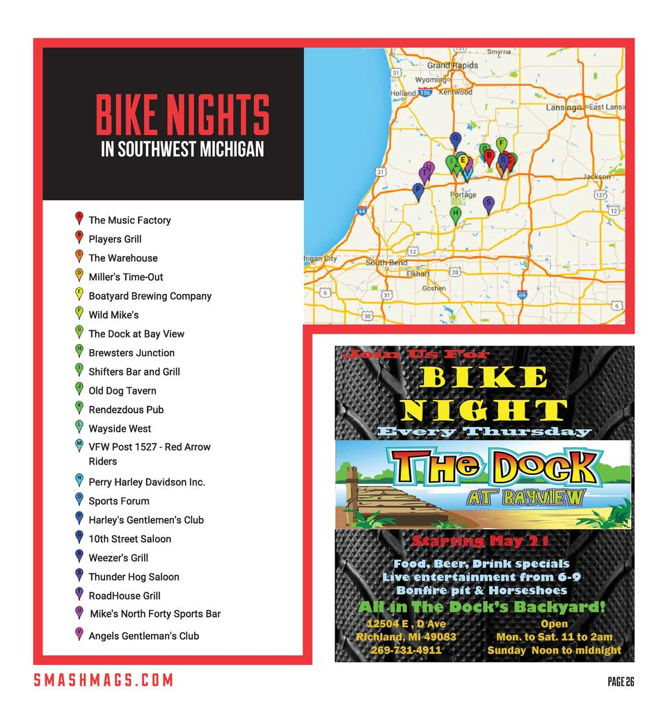 BIKE NIGHTS in Southwest Michigan  smashmags.com    PAGE 26  M