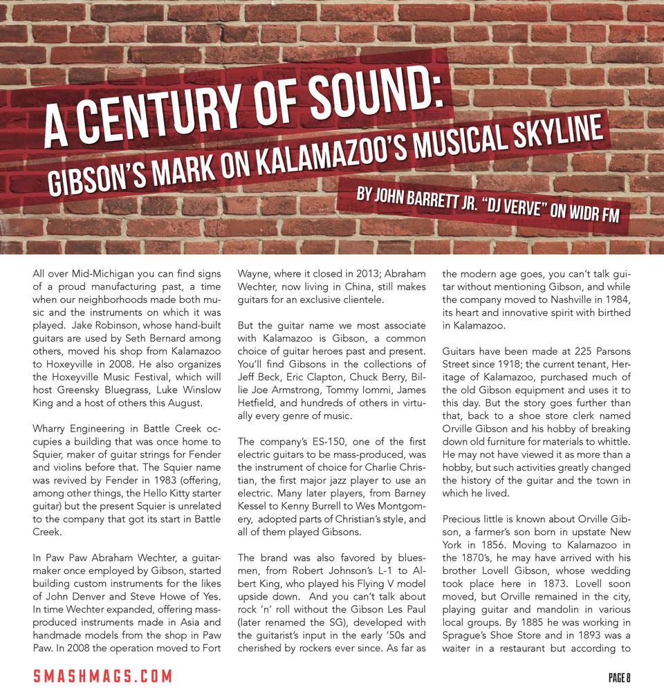 SOUND  L SKYLINE URY OF O   S MUSICA A CENT KALAMAZO N   S MARK ON O  GIBS  All over Mid-Michigan you can find signs of a ...