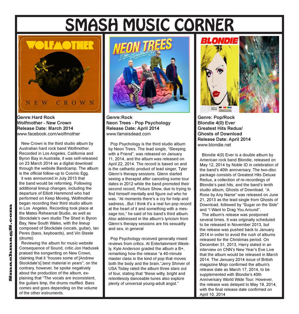 SMASH MUSIC CORNER  SmashmagS.com  Genre  Hard Rock Wolfmother - New Crown Release Date  March 2014 www.facebook.com wolfm...