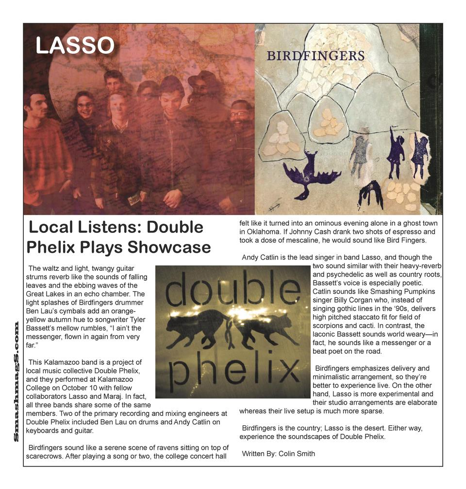 LASSO  SmashmagS.com  Local Listens  Double Phelix Plays Showcase The waltz and light, twangy guitar strums reverb like th...