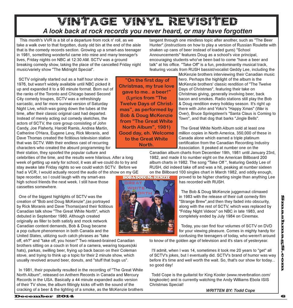 V i n ta ge V iny l Rev i si t ed  A look back at rock records you never heard, or may have forgotten This month s VVR is ...