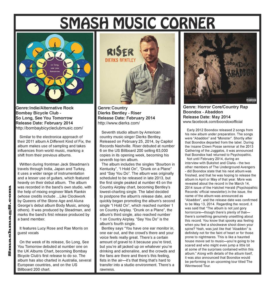 SMASH MUSIC CORNER  Genre  Indie Alternative Rock Bombay Bicycle Club So Long, See You Tomorrow Release Date  February 201...