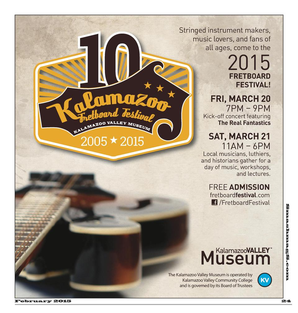Stringed instrument makers, music lovers, and fans of all ages, come to the  2015 FRETBOARD FESTIVAL   FRI, MARCH 20 7PM  ...