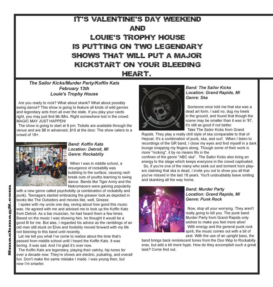 It s Valentine s Day weekend and Louie s Trophy House is putting on two legendar y shows that will put a major kickstart o...