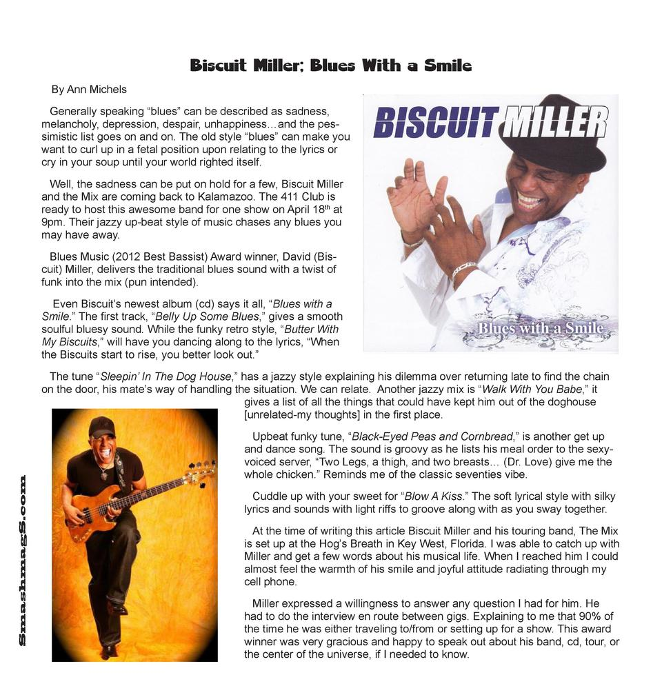 Biscuit Miller  Blues With a Smile By Ann Michels Generally speaking    blues    can be described as sadness, melancholy, ...