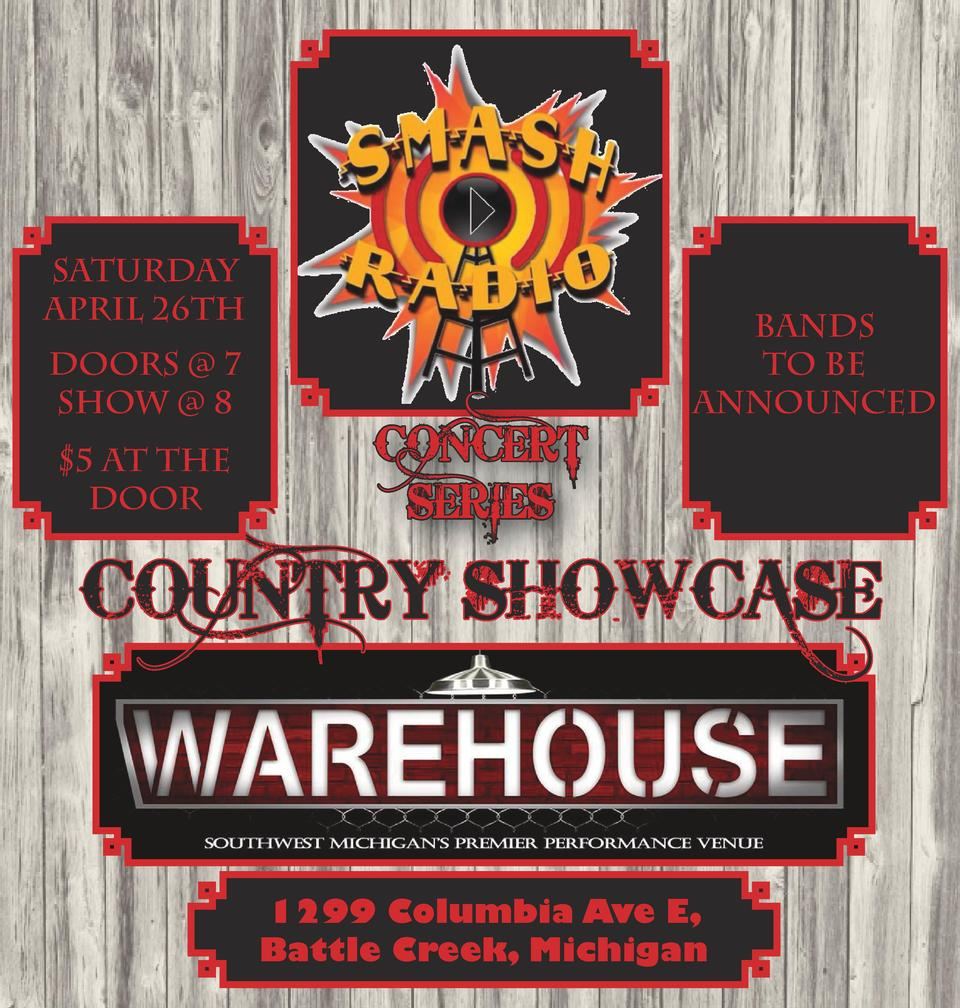 sATURDAY aPRIL 26TH DOORS   7 SHOW   8  5 AT THE DOOR  CONCERT SERIES  bANDS TO BE ANNOUNCED  COUNTRY SHOWCASE  1299 Colum...